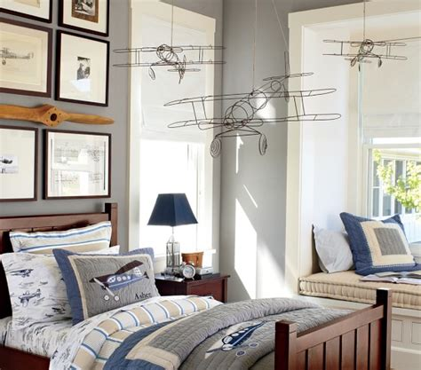airplane bedroom wire hanging airplanes pottery barn kids