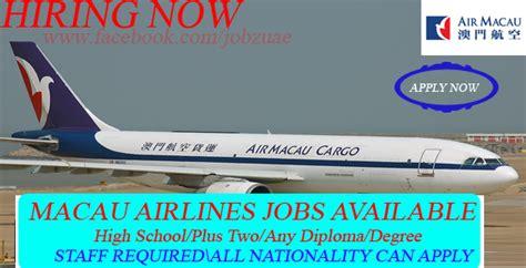 macau work more vacancies at air macau