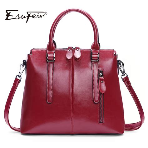 Handbag News Or Handbag Duh by New Arrival 2018 Esufeir Brand Genuine Leather
