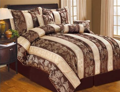 Sally Textiles Lizet 7 Piece Queen Comforter Set Chocolate