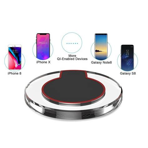 smart qi wireless charging pad for iphone x iphone 8 galaxy note 8