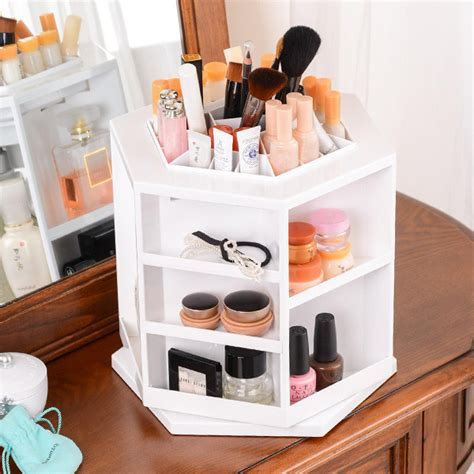 Rak Kosmetik Shopee rak kosmetik makeup berputar 360 derajat black