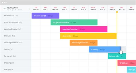 production calendar template tv production management software studiobinder