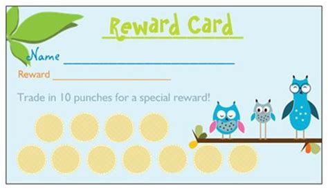 items similar to 25 printed reward punch cards for boys