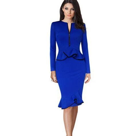 how to dress good for women i their 40s oxiuly blue dress for woman 2016 spring fashion elegant