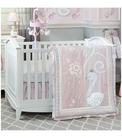 lambs and ivy crib bedding lambs ivy swan lake 4 piece crib bedding set