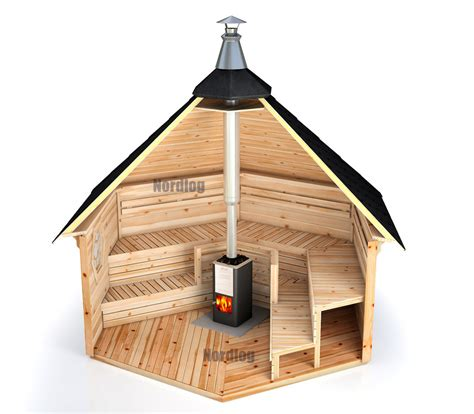 pavillon ebay log saunakota 7 0 m2 sauna house garden hut outdoor