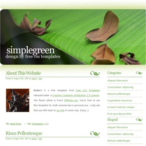 Simple Green Free Website Templates In Css Html Js Format For Free Download 180 93kb Free Simple Web Page Templates
