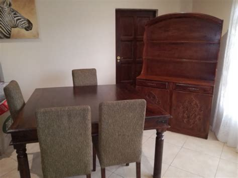 Dining Room Set East Rand Solid Teak Wood Dining Room Suite With Buffet Cabinet