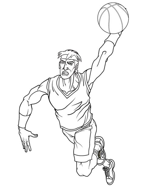 free printable coloring pages of nba players basketball player coloring pages coloring home