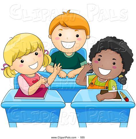 children clipart clipart children in school desks clipground