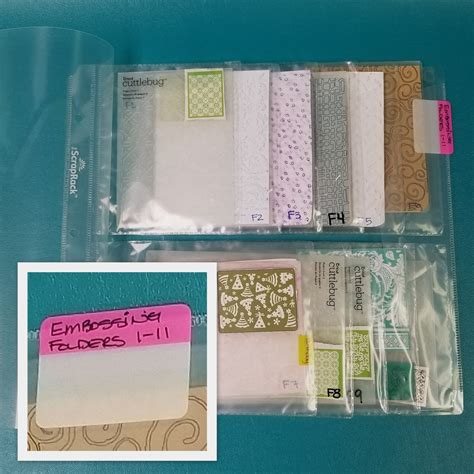 Arinda Embos G 01 3 ways to use syf tabs to label embossing folders