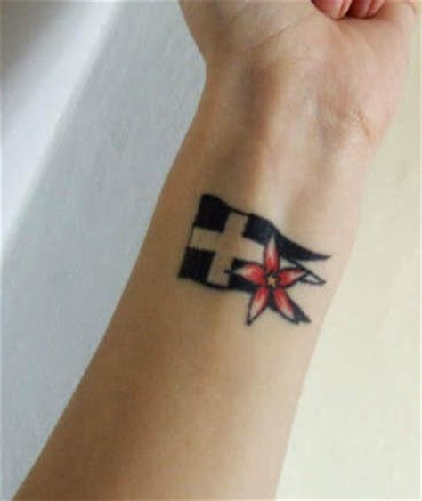 american flag wrist tattoo flag and flower wrist tattooimages biz