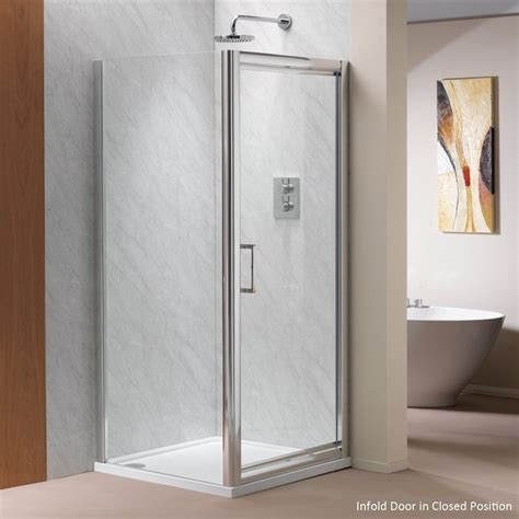 easy clean shower ascent showering 8mm infold doors with easy clean glass