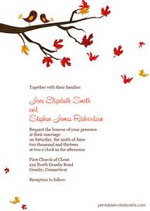 fall themed wedding invitations template best template