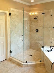 custom neo angle shower doors glass shower doors and tub enclosures showcase shower