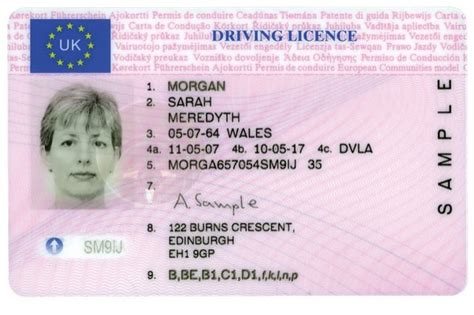 Uk Driving License Template by Uk Drivers License Template