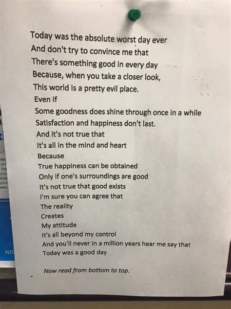 Mindfulness Poem Worst Day Ever Is The Deepest Thing You Ll Read All Day Metro News Reversal Poem Template