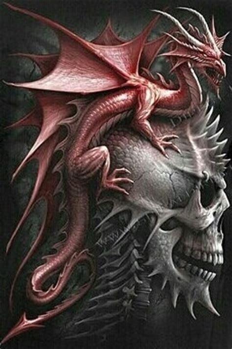 extreme fantasy tattoo free wicked skull n dragon cross stitch pattern new