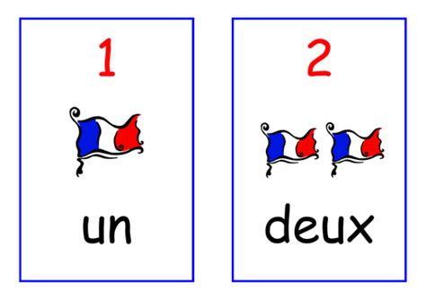 printable numbers 1 20 in french french numbers display cards 1 20 by laura walker79