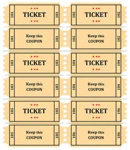 raffle ticket printing template 4 raffle ticket templates excel xlts