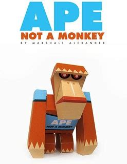 Papercraft Monkey - ape papercraft not a monkey paperkraft net free