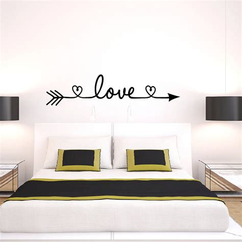 bedroom wall art stickers new design love arrow wall decals vinyl removable bedroom
