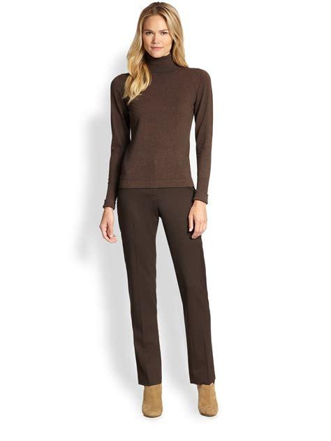 Maxmara Rania Choco 1 weekend by maxmara turtleneck sweater in brown lyst