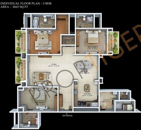 Mantri Espana Floor Plan