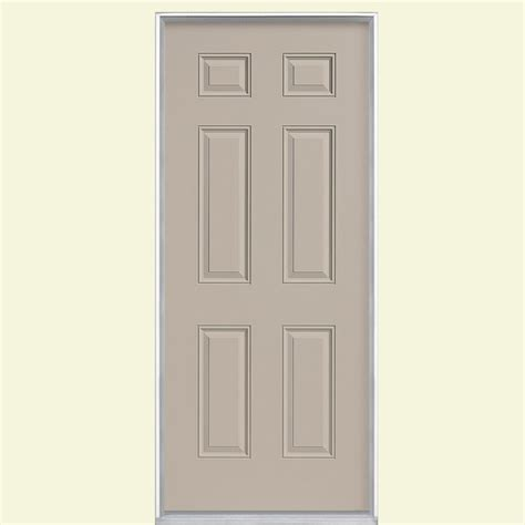 Painting 6 Panel Interior Doors by Masonite 30 In X 80 In 6 Panel Painted Steel Prehung