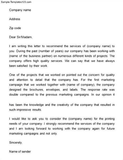 Reference Letter Quality Of Service trade reference letters sle quality of service