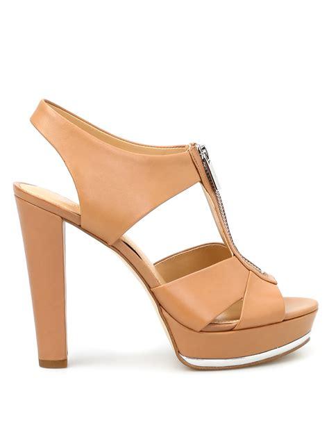 michael kors platform sandals bishop leather platform sandals by michael kors sandals