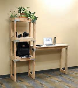 Desk Shelf Ideas Diy Standing Desk And Shelf Diy Done Right