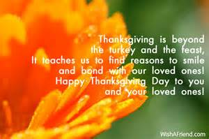 thanksgiving is beyond the turkey and thanksgiving message