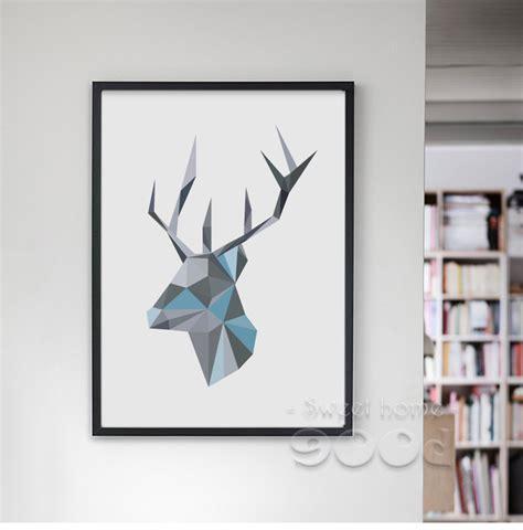 Canvas Decor Deer Geometric aliexpress buy geometric deer canvas print