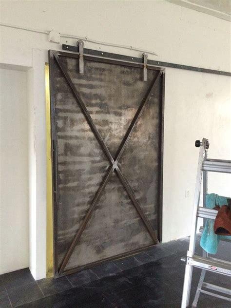 Ručn 233 Pr 225 Ce Industrial Metal Posuvn 233 Dvere Stodoly Br 225 Ny Metal Barn Door