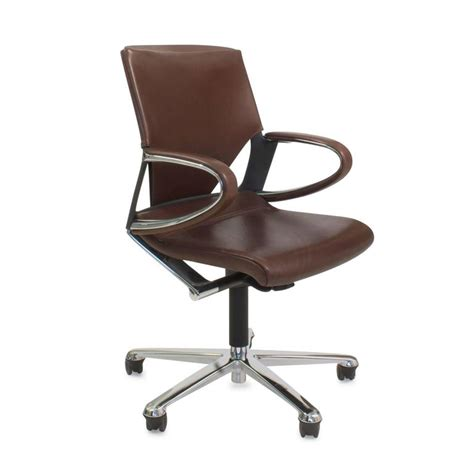brown leather modus  office swivel task chair  wilkhahn germany  sale  stdibs