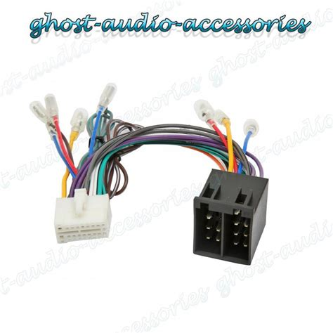 clarion nx iso wiring harness connector adaptor car stereo