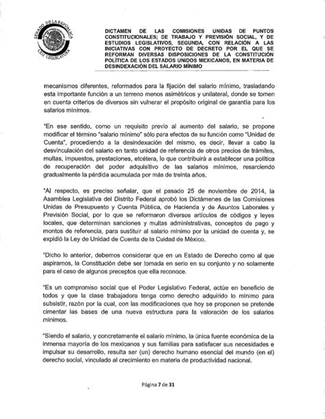 dictamen aumneto de minimo no imponible y deduccion general 2016 dictamen de reformas constitucionales en materia de
