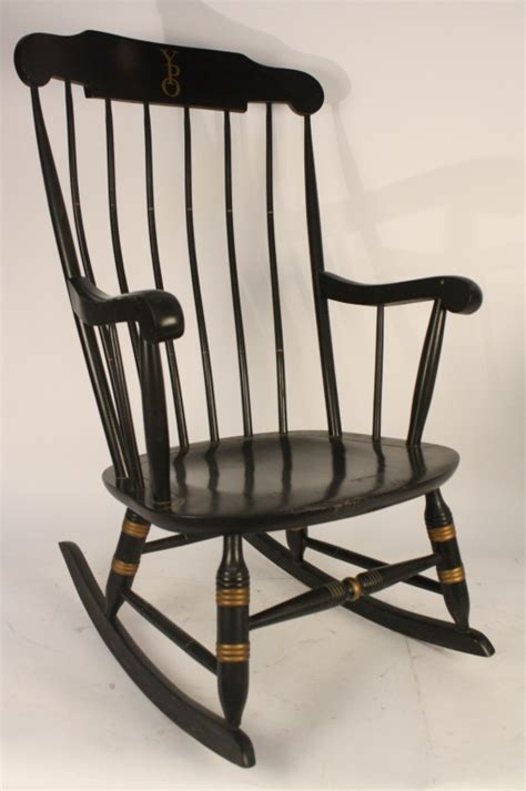 Black Rocking Chairs by Vintage Yale Black Rocking Chair