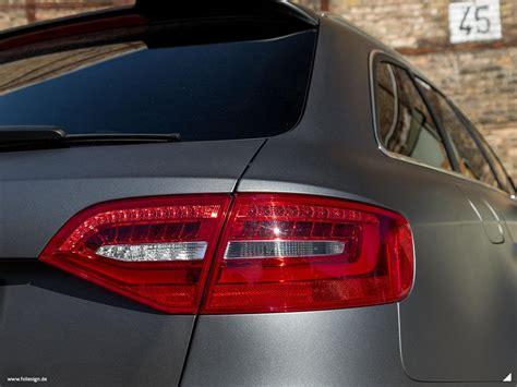Audi A4 B8 Grau by Vollfolierung Audi A4 Avant B8 Facelift 3m Matte Dark