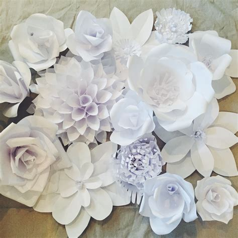 Paper Flowers - paper flower backdrop flower 1 ash and crafts