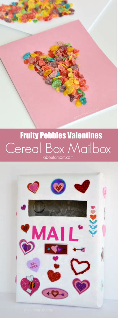 cereal box mailbox cereal box mailbox for valentines and a card