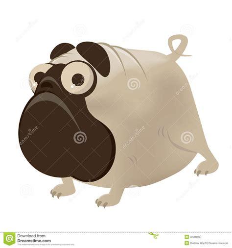 comic pug pug royalty free stock photography image 32005007