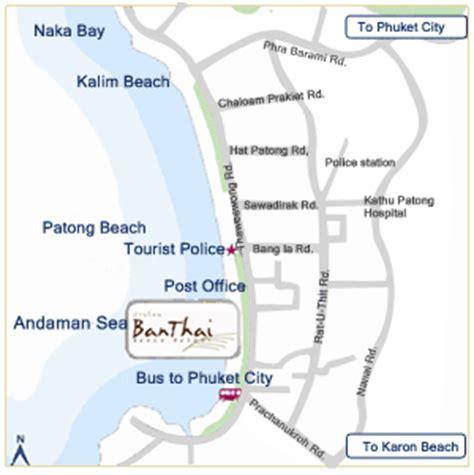banthai resort map プーケット バンタイビーチリゾート スパ bantiah resort spa パトンビーチ