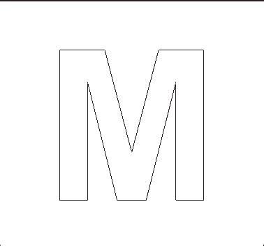 printable capital letter stencils alphabet stenncils page print your capital m stencil