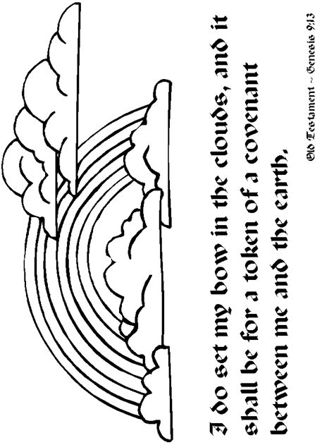 rainbow coloring pages with bible verses rainbows rainbow2 bible coloring pages coloring book