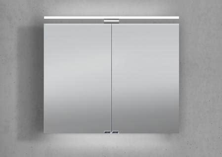 spiegelschrank unterbauleuchte spiegelschrank 80 cm led beleuchtung doppelt verspiegelt