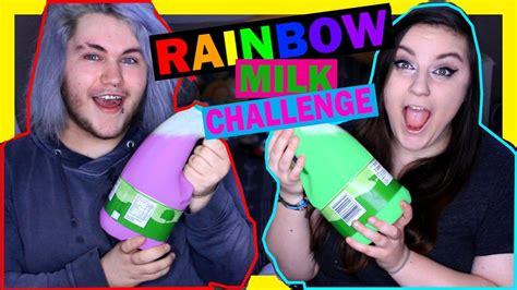 the rainbow milk challenge rainbow milk challenge w itsmedylan vomit
