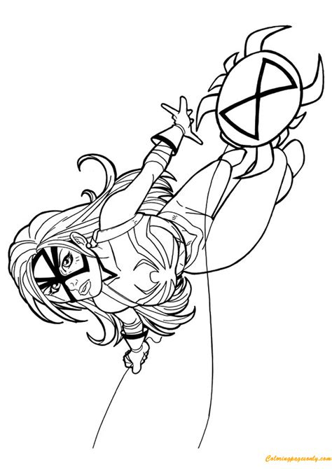 spider woman  avengers coloring page  coloring